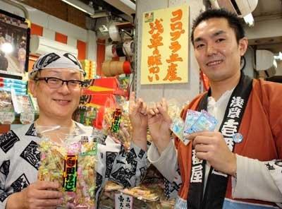 10/1に提携を開始した、雷おこしの「壱番屋」(東京・浅草)は、サービススタートから4日間で約700人がコロカ目当てに来店。コロプラは地方活性の起爆剤となりつつある