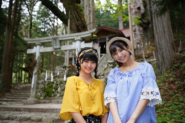 樹齢1000年の日本スギがある「神坂神社」までトレッキングを楽しむ