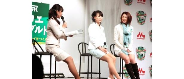 """""""幸せいっぱい""""な東尾理子選手は、プロポーズの様子も告白した"""