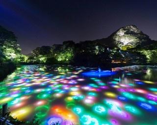 「チームラボ」が手がける池を使ったデジタルアート