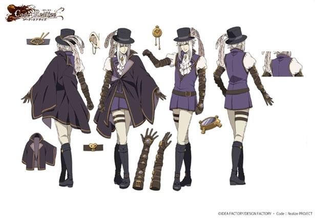 10月アニメ「Code:Realize ~創世の姫君~」のメインキャラ設定画が公開!