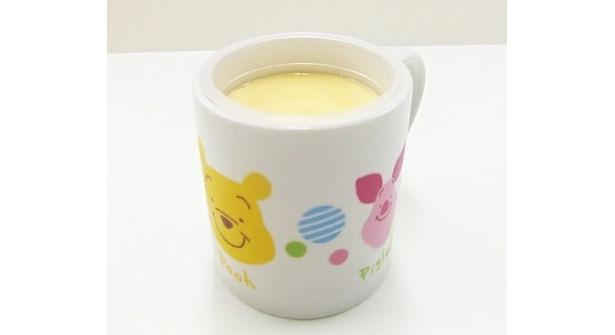 くまのプーさんプリンは、マグカップ入り(420円)