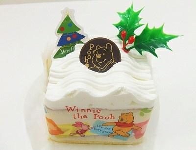 くまのプーさんショートケーキは、洋ナシの味がポイント(262円)