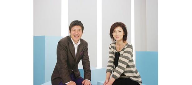 スター・チャンネルの新番組「関根勤 映画の時間」で司会を務める関根勤と松本ともこ
