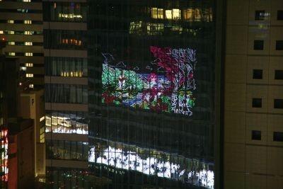 寒さなし人込みなしの反転イルミ(ガラス張りの壁面に移ったタワーズイルミ)をJRセントラルタワーズ15階から観賞するも良し!