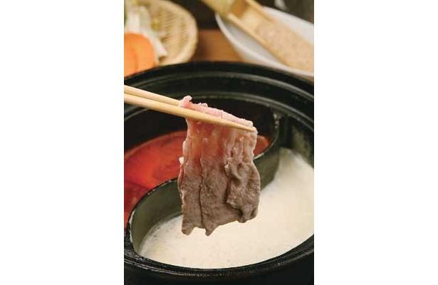 魅惑の豆乳ダシが決め手!「豆乳だし&イタリアンとまとだし コース」/「しゃぶしゃぶ花菜野(はなの)」(名古屋・藤が丘)