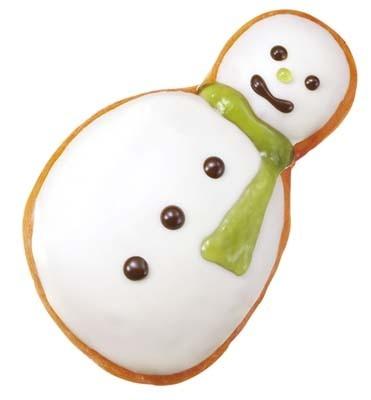 愛嬌たっぷりの顔がかわいい!「ホリデー ダズンボックス」のみの販売になるスノーマンのドーナツはコチラ!