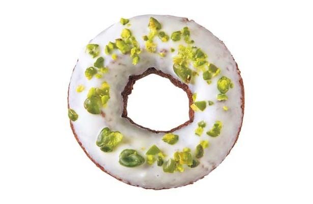 ホワイトチョコレートの白とピスタチオの緑がキュート