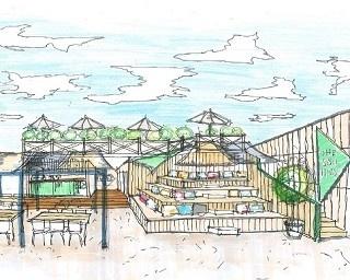 FMG株式会社とHELLY HANSEN(ヘリーハンセン)とのコラボレーションによる海の家「THE SAIL HUS(ザ・セイルハウス)」