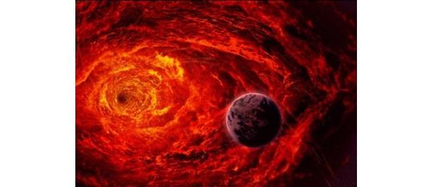 期間中は、ブラックホールをイメージしたメニューも発売されていた