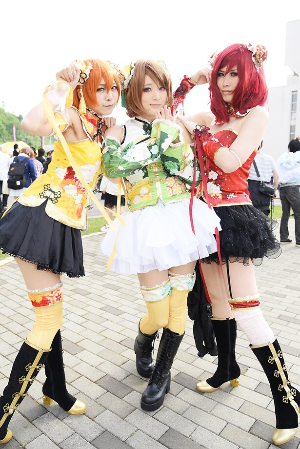 左より、「ラブライブ!」の星空凛(じゃすみんさん)、小泉花陽(真緒さん)、西木野真姫(桃栗さん)