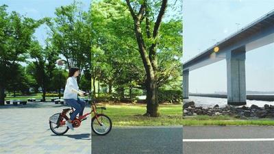 "WEBムービーに登場する""東京みどりみち""は全10カ所。まるでひと続きの長い道を走っているような映像に仕上がっている"