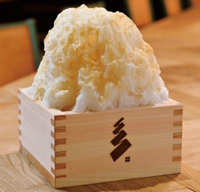 「米飴キャラメルかき氷」(850円)/イナズマ お米研究所
