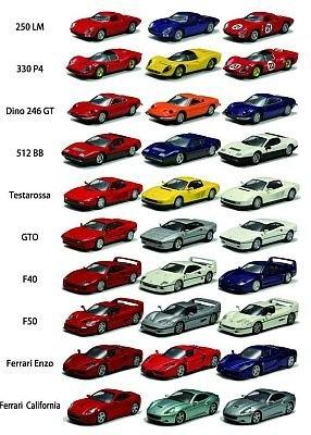 「フェラーリ・ミニカーコレクションVII」のラインナップ。さらにシークレットモデル1台を加え、全31種類が登場!