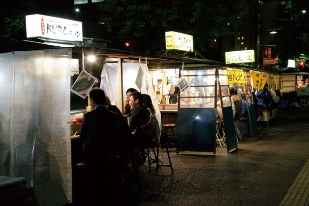 中洲の繁華街から10分ほどの距離にある「昭和通り」エリア