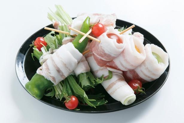 ヘルシーで女性に人気の「朝採り糸島野菜・三種盛り合わせ」(600円)