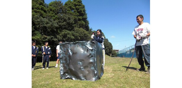 10月6日より大網白里町立増穂中学校で行われた、創立20周年記念制作の授業風景