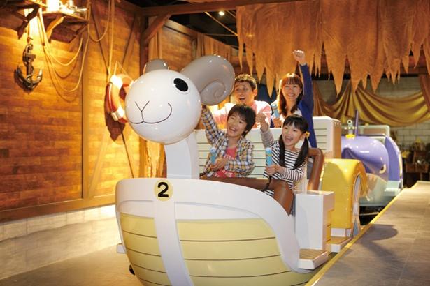 「J-WORLD TOKYO」では「ONE PIECE」をはじめ「週間少年ジャンプ」作品をモチーフにしたアトラクションが楽しめる