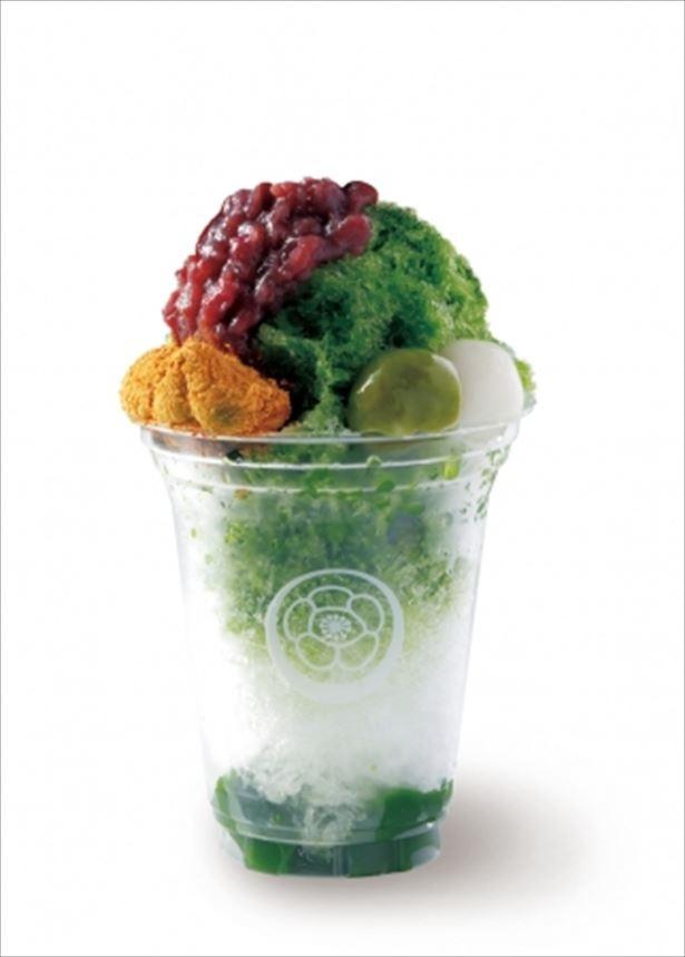 【写真を見る】祇園辻利らしい贅沢な和食材を使ったかき氷はソラマチ店限定