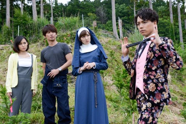 (写真右から)山崎育三郎、高梨臨が出演する「あいの結婚相談所」にゲスト出演する(写真左から)市川由衣、加藤晴彦