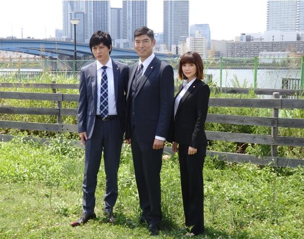 「刑事7人」の制作発表会見が7月6日に行われ、東山紀之、高嶋政宏、倉科カナ、塚本高史が出席した