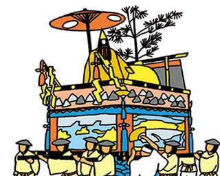 山鉾の形態のひとつ「舁山」/祇園祭