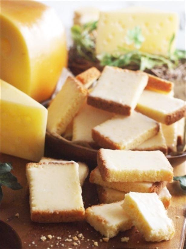 チーズケーキの断面のような「プチチーズケーキラスク」
