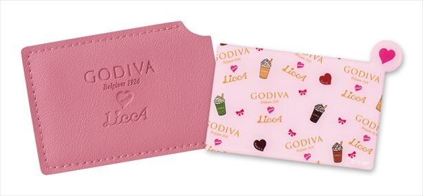 【写真を見る】1080円以上の購入特典「GODIVA meets LiccA オリジナルカードミラー」