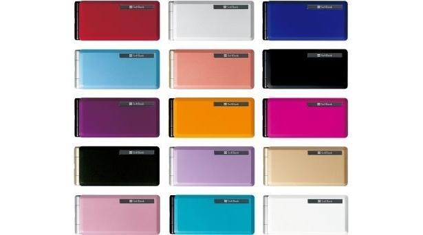 SMAPがニューヨークでCM撮影し、アピールするソフトバンクの新機種「COLOR LIFE SoftBank 840P」は、写真のような15色の美しいカラーを展開