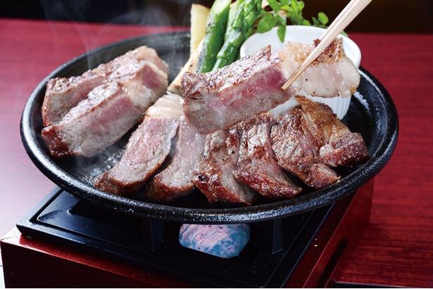 「Shirogane Beef(シロガネ ビーフ)」のイチオシは、「熟成サーロイン」(3240円・150g)