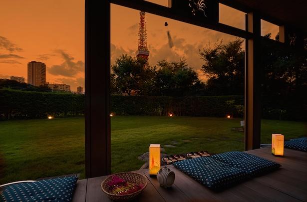 東京タワーを臨む景色と、贅沢な時間
