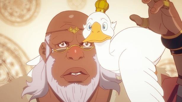 「神撃のバハムート VIRGIN SOUL」第15話先行カットを公開。ニーナ、嵐を抜けて神の国へ