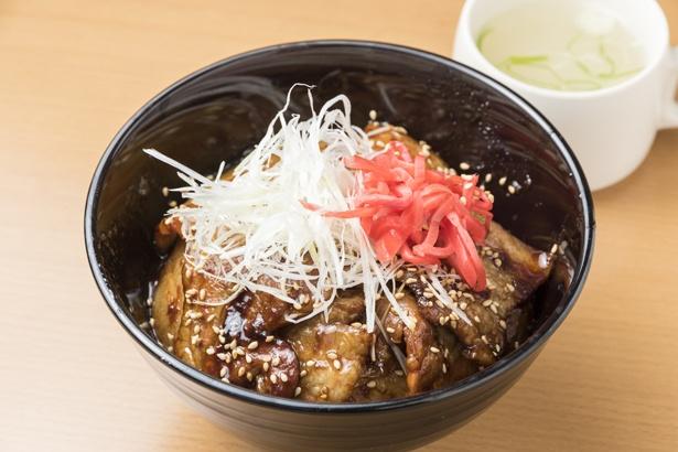 「サロマ豚丼」600円は、地元産のサロマ豚を使っている。