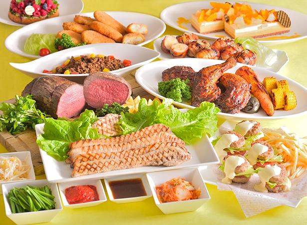 「肉の祭典」では、暑い夏を乗り切るスタミナ満点の肉料理が充実