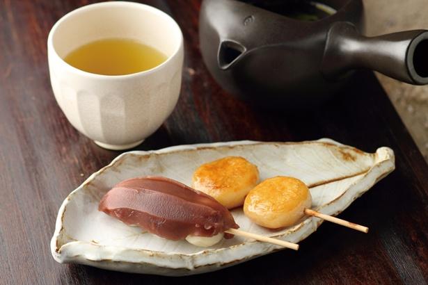 「里楽 Relaxu」のお茶付き「デザートセット」(600円~)
