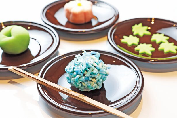 体験では上生菓子3種と干菓子を手作り/七條甘春堂 和菓子体験教室