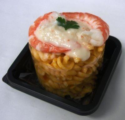 トマトソースパスタとズワイガニの風味が楽しめる「えびとツナの冷製トマトクリームパスタ」 【ほか商品画像あり】