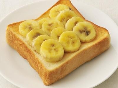 10のワザ全部見せます…【4】トーストにバナナを乗せて焼く