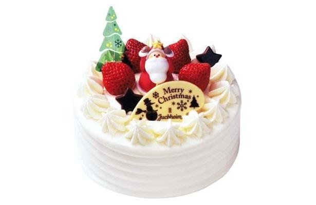 ショートケーキにサンタやいちごがのったクリスマスバージョン!(12月25日まで)