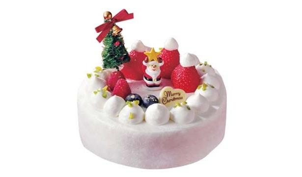 フルーツの森で遊ぶサンタをイメージしたハッピーなクリスマスケーキ(12月25日まで)
