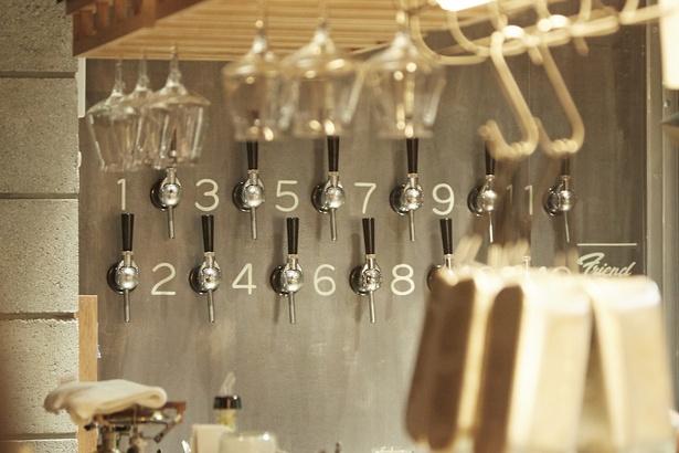 Tokyo WhiteやKAGUA Blancなど約10種類のクラフトビールを用意