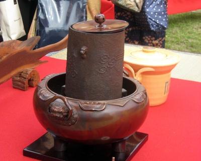 現在では珍しくなっている炭で点てるための茶器