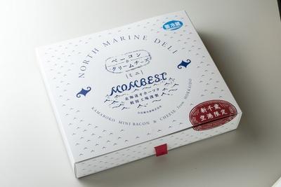 出塚水産 新千歳空港店/新千歳空港店でしか販売していない「NORTH MARINE DELI ミニベーコン&クリームチーズ」