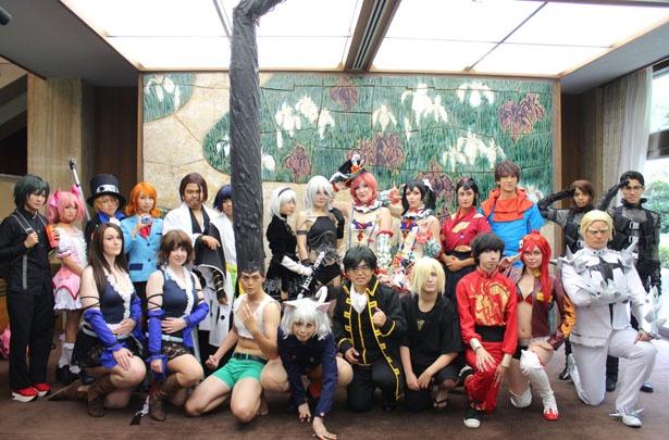 愛知県の表敬訪問には11の国・地域の海外コスプレイヤーが訪れた