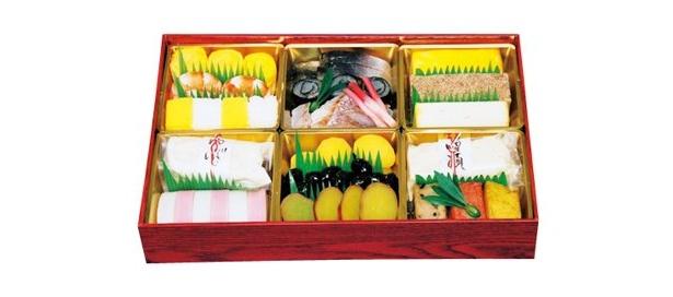 松屋銀座(中央区)にある、湯葉や麩の料理が自慢の「ゆばとふYAMATO」の「一段重」(1万2600円、限定15折)