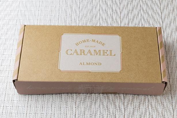 キャラメルキッチン/ホームメイドキャラメル(8包入り756円~)。アーモンドとミルクを通年販売し、時期によって抹茶やチョコも並ぶ