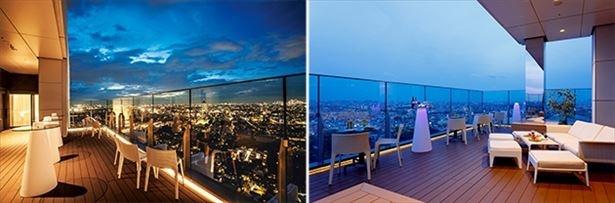 地上130mから見る夜景はロマンティックで、デートにもぴったり