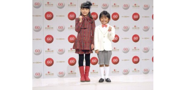 「第60回NHK紅白歌合戦」の企画コーナー「こども紅白歌合戦」に出演する大橋のぞみ(写真左)と加藤清史郎(同右)