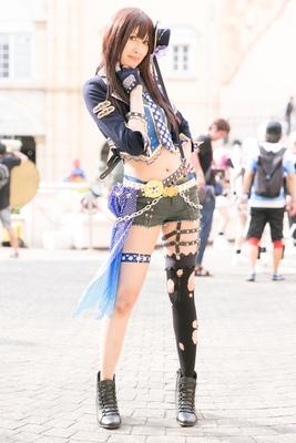「アイドルマスター シンデレラガールズ!」の渋谷凛に扮したまいまいさん
