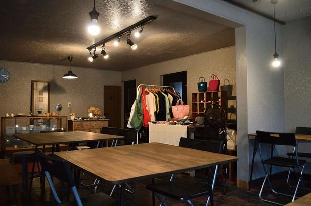 「KURU」店主の好きなものを集めたかわいらしい店内では、個展や料理教室も不定期で開催される